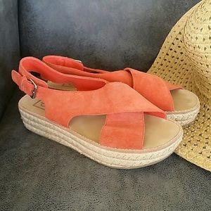 Dolce Vita Coral Suede Sandals
